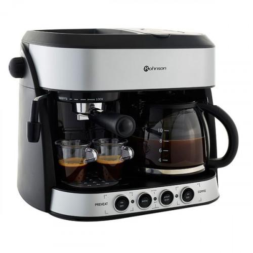 ROHNSON R-970 Μηχανές Espresso Black/Silver