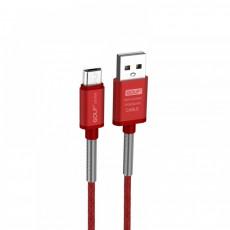 GOLF GS-40M-RD USB/Micro 1m Καλώδια-Λοιπά Αξεσουάρ Κινητής Red