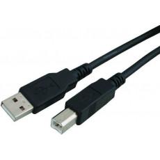 POWERTECH CAB-U016 USB 2.0 A to B 1.5m Καλώδια Black