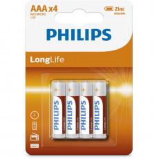 PHILIPS R03L4B-10  LONGLIFE 1.5 (4 PCS) Μπαταρίες