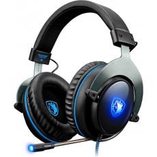 SADES R12 PRO USB Ακουστικά-Μικρόφωνα Black
