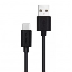 PHILIPS USB-C MALE - USB-A MALE 1.2m (DLC3104A-00) Καλώδια-Λοιπά Αξεσουάρ Κινητής Black