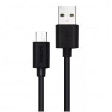 PHILIPS USB 2.0 TO MICRO USB 1.2m (DLC3104U-00) Καλώδια-Λοιπά Αξεσουάρ Κινητής Black