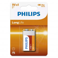 PHILIPS 6F22L1B/10 LONGLIFE ZINC CHLORIDE 9V Μπαταρίες