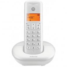 MOTOROLA E201 DECT Ασύρματο Τηλέφωνο Λευκό